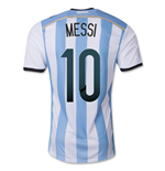 Camiseta Argentina 2014-15 World Cup Home (Messi 10)