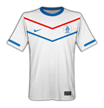 Camiseta Holanda 2010-11 Nike World Cup Away de niño