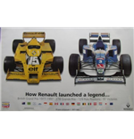 "Póster F1 Memorabilia Renault F1 ""How Renault Launched A Legend"""