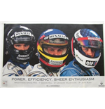 "Póster F1 Memorabilia Renault F1 ""Power, Efficiency ,Enthusiasm"""