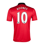 Camiseta Manchester United FC 2013-14 Home (Rooney 10) de niño