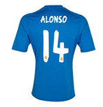 Camiseta Real Madrid 2013-14 Away (Alonso 14) - de niño