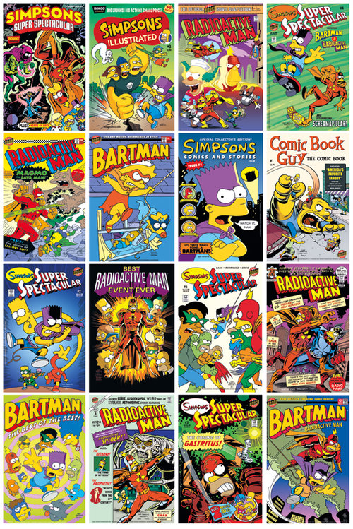 Póster Los Simpsons Comic Covers