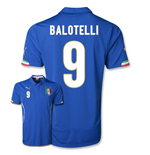 Camiseta Italia 2014-15 World Cup Home (Balotelli 9)