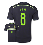 Camiseta España 2014-15 Away World Cup (Xavi 8) de niño