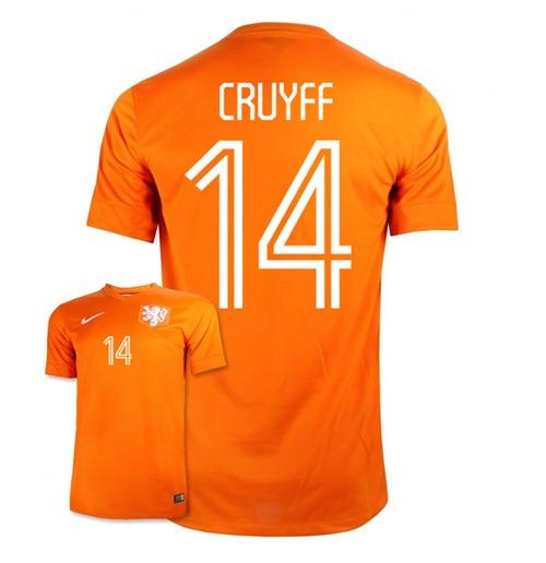 2bb7d90c0c21e Compra Camiseta Holanda 2014-15 Home World Cup (Cruyff 14) de niño