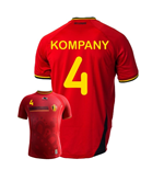 Camiseta Belgica 2014-15 World Cup Home (Kompany 4) de niño