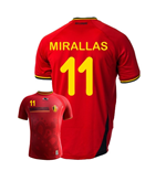 Camiseta Belgica 2014-15 World Cup Home (Miralas 11) de niño