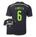 Camiseta España 2014-15 Away World Cup (A.Iniesta 6) de niño