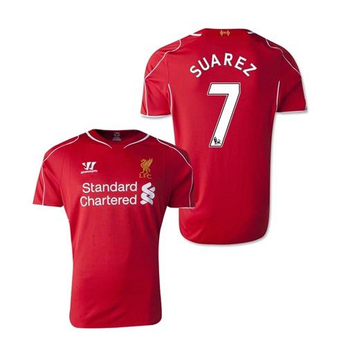 0d3188c7b9396 Compra Camiseta Liverpool 2014-15 Home (Suarez 7) de niño Original