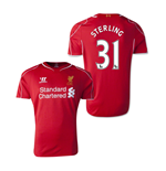Camiseta Liverpool  2014-15 Home (Sterling 31)