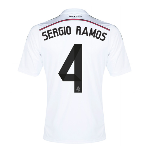 Compra Camiseta Real Madrid 2014-15 Home (Sergio Ramos 4) de niño 69cb7e70af2b4