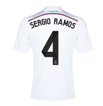 Camiseta Real Madrid 2014-15 Home (Sergio Ramos 4) de niño