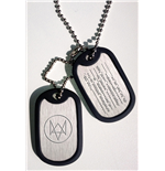 Watch Dogs Chapas de Identificación con cadena Fox Wanted