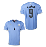 Camiseta Uruguay 2014-15 World Cup Home (L.Suarez 9)