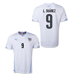 Camiseta Uruguay 2014-15 World Cup Away (L.Suarez 9)