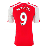 Camiseta Arsenal 2014-15 Home (Podolski 9) - de niño