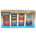 Justice League Pack de 4 Vasos para zumo