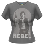 Camiseta Star Wars Han Rebel de chica