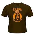 Camiseta Frank Zappa  - Zappa For President marrón