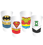 Justice League Pack de 4 Vasos de Chupitos