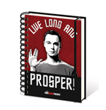 Big Bang Theory Libreta A5 Live Long And Prosper