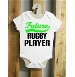Body para bebé future rugby player