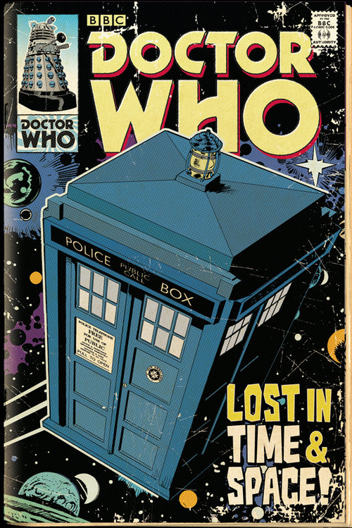 Póster Doctor Who Tardis Comic