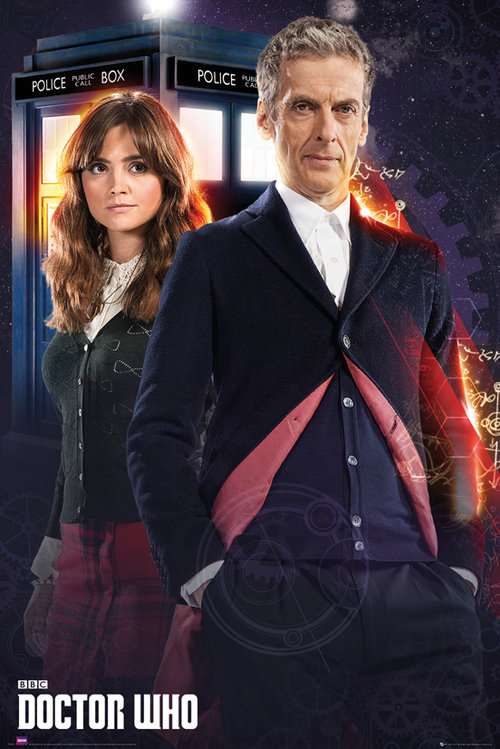 Póster Doctor Who Doctor and Clara