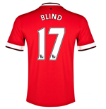 Camiseta 2014-15 Manchester United Home (Blind 17) - de niño