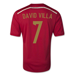 Camiseta España 2014-15 World Cup Home (David Villa 7) - de niño