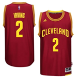 Camiseta Cleveland Cavaliers Kyrie Irving adidas New Swingman Road Granate