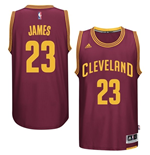 Camiseta Cleveland Cavaliers LeBron James adidas New Swingman Road Granate