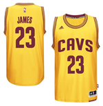 Camiseta Cleveland Cavaliers LeBron James adidas New Swingman Alternate Amarillo