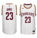 Camiseta Cleveland Cavaliers LeBron James adidas New Swingman Home Blanco