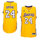 Camiseta Los Angeles Lakers Kobe Bryant adidas Gold New Swingman Home