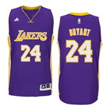 Camiseta Los Angeles Lakers Kobe Bryant adidas New Swingman Road Morado