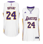 Camiseta Los Angeles Lakers Kobe Bryant adidas New Swingman Alternate Blanco
