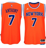 Camiseta New York Knicks Carmelo Anthony adidas New Swingman Alternate Naranja