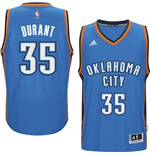 Camiseta Oklahoma City Thunder Kevin Durant adidas New Swingman Road Azul
