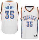 Camiseta Oklahoma City Thunder Kevin Durant adidas New Swingman Home Blanco