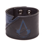 Assassin´s Creed Unity Pulsera de cuero Blue Logo