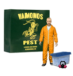 Breaking Bad Figura Deluxe Jesse Pinkman in Orange Hazmat Suit heo Exclusive 15 cm