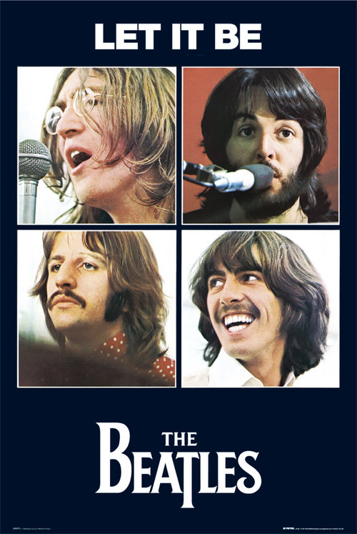 Póster Beatles Let It Be