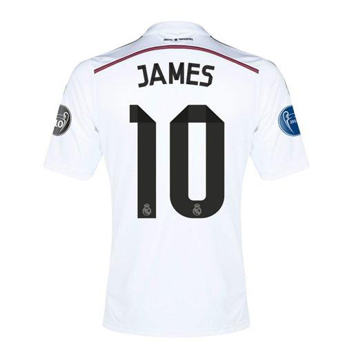 7b82e50b94ade Compra Camiseta Real Madrid 2014-15 UCL Home (James 10) - de niño