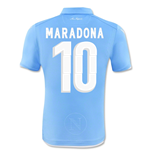 Camiseta Nápoles 2014-15 Authentic Home (Maradona 10) de niño