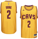 Camiseta Cleveland Cavaliers Kyrie Irving adidas Gold New Swingman Alternate