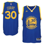 Camiseta Golden State Warriors Stephen Curry adidas Royal Blue New Swingman Road