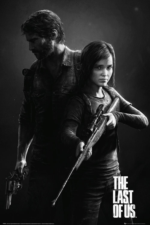 Póster The Last Of Us  Black and White Portrait