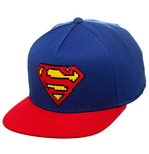 Superman Gorra Béisbol Snap Back Pixel Logo